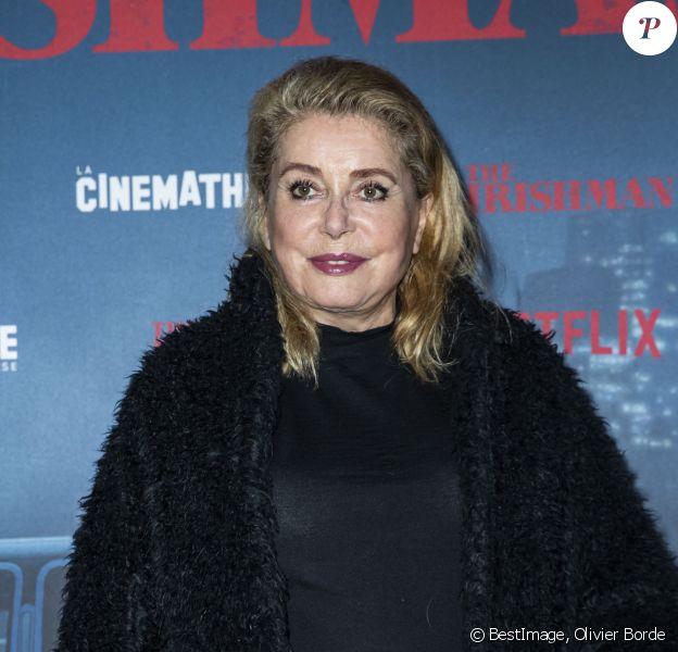 """Catherine Deneuve - Avant-première du film """"The Irishman"""" à la Cinémathèque à Paris le 17 octobre 2019. © Olivier Borde/Bestimage"""
