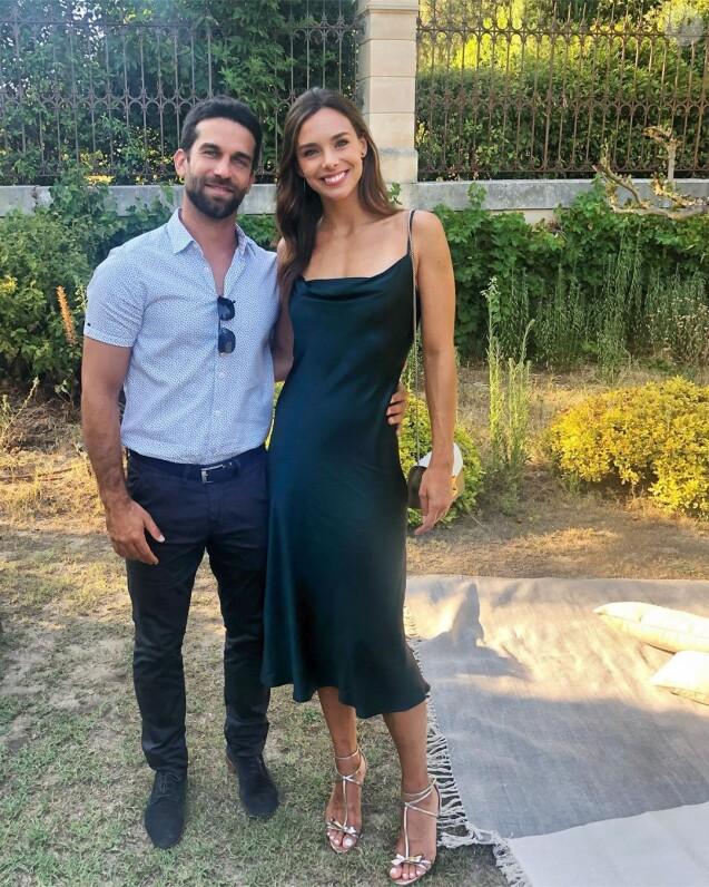 Marine Lorphelin et Christophe à un mariage, le 25 août 2019
