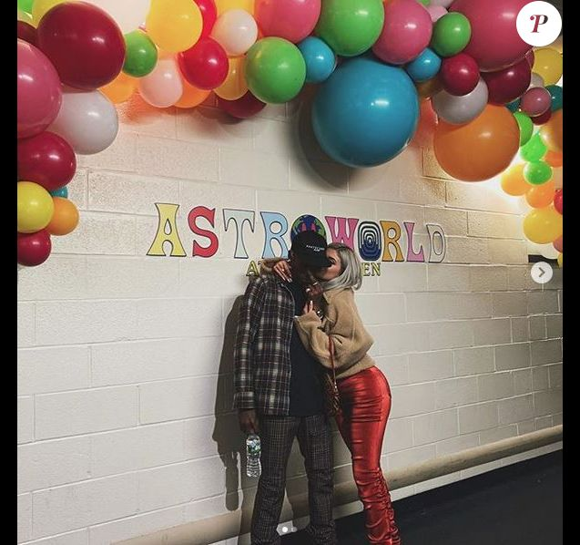 Travis Scott et Kylie Jenner au Madison Square Garden. New York, le 27 novembre 2018.