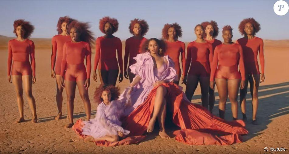 """Beyoncé et sa fille Blue Ivy dans le clip de """"SPIRIT"""", chanson extraite de la bande originale du film Le Roi Lion. Juillet 2019."""