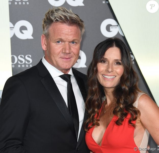 "Gordon Ramsay et sa femme Tana Ramsay - Photocall de la soirée ""GQ Men of the Year"" Awards à Londres le 3 septembre 2019."