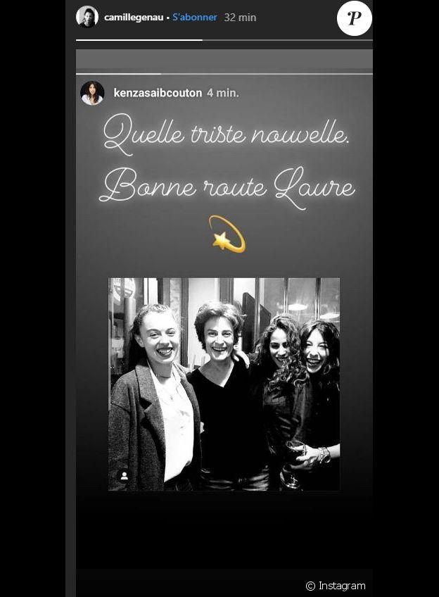 Camille Geneau rend hommage à Laure Killing sur Instagram, le 19 novembre 2019