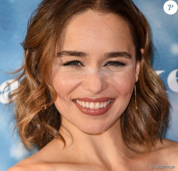 """Emilia Clarke lors de la première du film """"Last Christmas"""" à Berlin le 22 octobre 2019."""