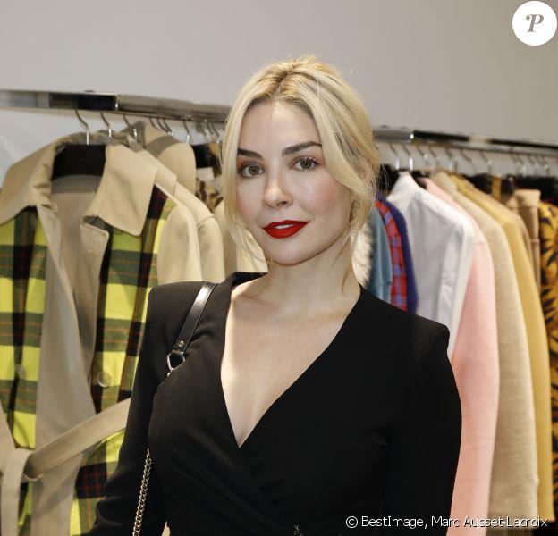 Exclusif - Alix Bénézech assiste au cocktail pour le lancement du Pop-up exclusif des vêtements pour femme P.A.R.O.S.H. au Montaigne Market à Paris le 19 novembre 2019. © Marc Ausset-Lacroix/Bestimage