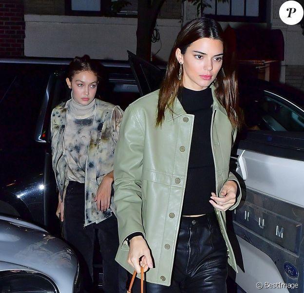 Kendall Jenner et Gigi Hadid sont allées dîner au restaurant italien Carbone à New York, le 19 novembre 2019.