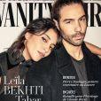 """Leïla Bekhti et Tahar Rahim en couverture de """"Vanity Fair"""", numéro décembre 2019-janvier 2020. Le couple d'acteurs n'avaient encore jamais posé pour la couverture d'un magazine."""