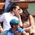 Maxime Chattam et Faustine Bollaert à Roland Garros, le 30 mai 2012.