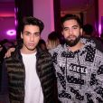 "Exclusif - Samuel Bensoussan, Kendji Girac assistent au lancement de la collection ""Artmakers"" d'Eleven Paris aux Salons Hoche à Paris le 27 novembre 2019. © Rachid Bellak/Bestimage"