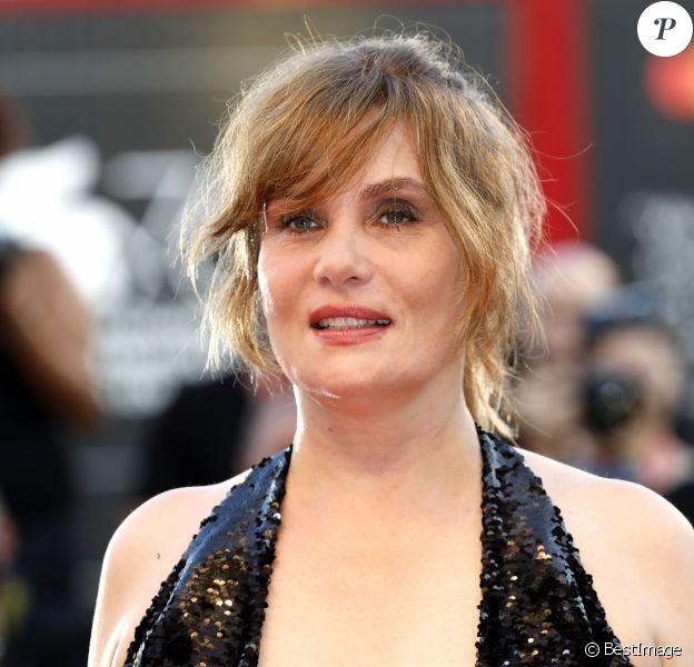"""Emmanuelle Seigner - Red carpet pour le film """"J'accuse!"""" lors du 76ème festival du film de venise, la Mostra le 30 Août 2019."""