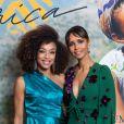 """Exclusif - Ophély Mézino (première dauphine de Miss France 2019) et Sonia Rolland (Présidente de Maïsha Africa) - Dîner de gala au profit de l'association """"Maïsha Africa"""" de Sonia Rolland, qui vient en aide aux enfants du Rwanda, au Pavillon Gabriel, à Paris, France, le 17 décembre 2018. En vue de soutenir une partie du projet en faveur de la réhabilitation du service de néonatalogie du service pédiatrique de l'hôpital de Musanze au Rwanda, le gala est organisé avec le précieux parrainage de C.Descalzi-Pereira, présidente de la Fondation Congo Kitoko et de C.Brucker, directrice générale de L'Oréal Grand Public France. Plus de 125 000 euros de dons ont été récoltés pendant la soirée. Cette manifestation n'aurait pu avoir lieu sans le partenariat de la Fondation Congo Kitoko, Mixa et LVMH ainsi que la contribution du magazine Infrarouge et de la maison de Champagne Delarocque. © Gorassini-Moreau/Bestimage"""