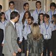 Letizia d'Espagne et son mari le Prince Felipe au Zarzuela Palace (Espagne, 25 juillet 2009)
