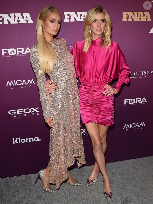 Paris Hilton et sa soeur Nicky Hilton Rothschild assistent aux FN Achievement Awards 2019 à l'IAC Building. New York, le 3 décembre 2019.