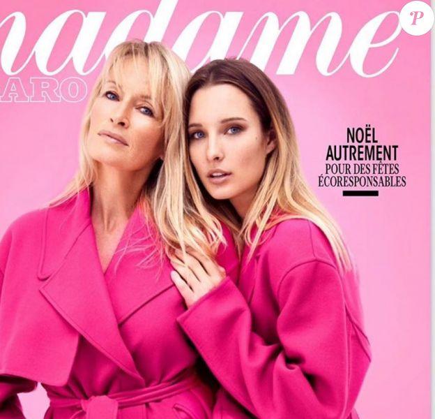 Estelle Lefébure en couverture de Madame Figaro, dans les kiosques le 6 décembre 2019.
