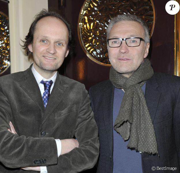 """Jean-Marc Dumontet, Laurent Ruquier - 200e représentation de la pièce """" Inconnu a cette adresse """" au théâtre Antoine à Paris le 25 fevrier 2013."""