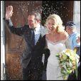 Mariage de Jean Dujardin et Alexandra Lamy. 25/07/09