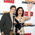 "Michael Cera, Alia Shawkat - La chaine de TV Netflix presente la saison 4 de ""Arrested Development"" a Hollywood, le 29 avril 2013."