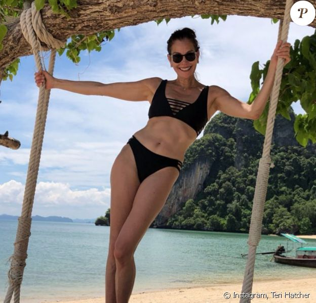 Teri Hatcher en vacances. Juin 2019.