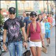 Tara Reid à Saint-Tropez le 27/07/09 avec son amoureux Michael Axtmann