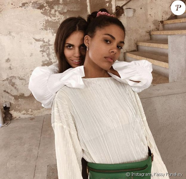Les soeurs Kassy et Tina Kunakey. Février 2018.