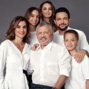 Rania et Abdullah de Jordanie et leurs quatre beaux enfants, lumineux pour 2020