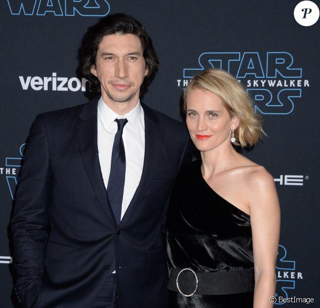"""Adam Driver et sa femme Joanne Tucker à la première de """"Star Wars: The Rise Of Skywalker"""" à Los Angeles, le 16 décembre 2019."""