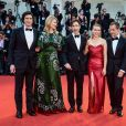 """David Heyman, Scarlett Johansson, Noah Baumbach, Laura Dern and Adam Driver lors de la première du film """"Marriage Story"""" lors du 76e festival du film de Venise, la Mostra, sur le Lido au Palais du cinéma de Venise, Italie, le 29 août 2019."""
