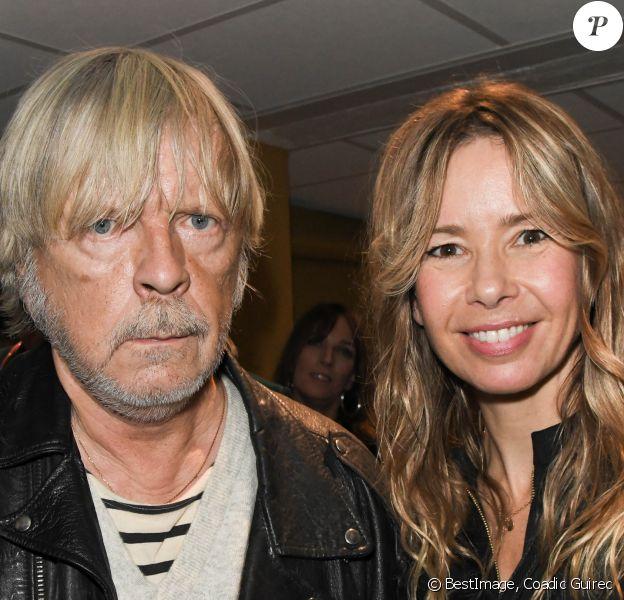 Exclusif - Le chanteur Renaud et son ex-femme Romane Serda au concert de Dave à Bobino à Paris le 18 novembre 2019. © Coadic Guirec/Bestimage