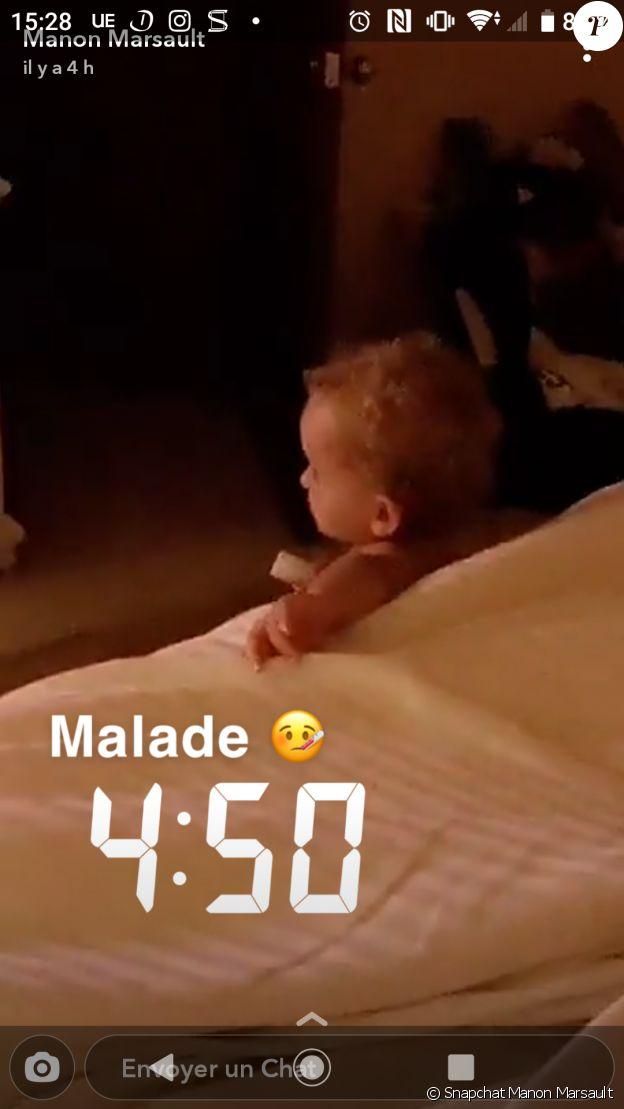 Tiagi, le fils de Manon Marsault et Tiago Tanti, malade, le 18 décembre 2019
