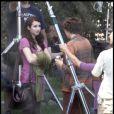 Emma Roberts sur le tournage de Valentine's Day à Los Angeles le 29 juillet 2009