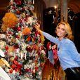 Sylvie Tellier fête Noël en famille, sur Instagram le 24 décembre 2019.