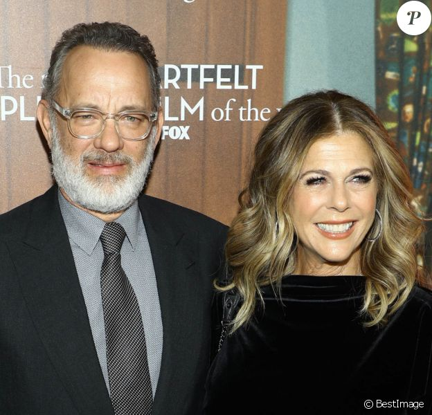 "Tom Hanks et sa femme Rita Wilson - Première du film ""A Beautiful Day In The Neighborhood"" à New York le 17 novembre 2019."