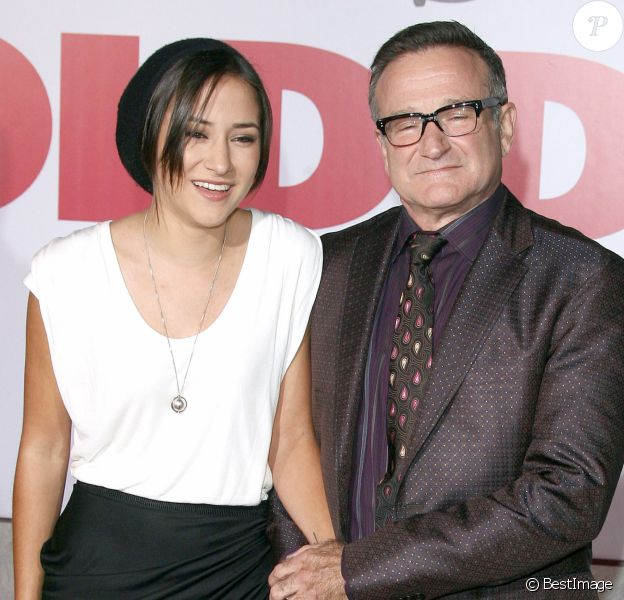 "Zelda Williams et Robin Williams - Première du film ""Old Dogs"" au Capitan Theatre à Hollywood le 9 novembre 2009."
