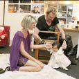 Johnny Hallyday, sa femme Laeticia et leur fille Joy