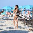Exclusif - Le mannequin Winnie Harlow profite d'un après-midi ensoleillé sur la plage de Miami, le 31 décembre 2019.