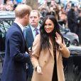 Meghan Markle et le prince Harry en visite à la Canada House à Londres le 7 janvier 2020.