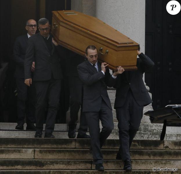 Exclusif - Obsèques de Claude Régy au crématorium du Père Lachaise à Paris. Le 7 janvier 2020.