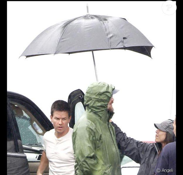 Mark Wahlberg sur le tournage de The Fighter à Boston le 21 juillet 2009