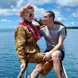Jeffree Star et son ex-petit ami Nathan Schwandt à Bora Bora. Novembre 2019.