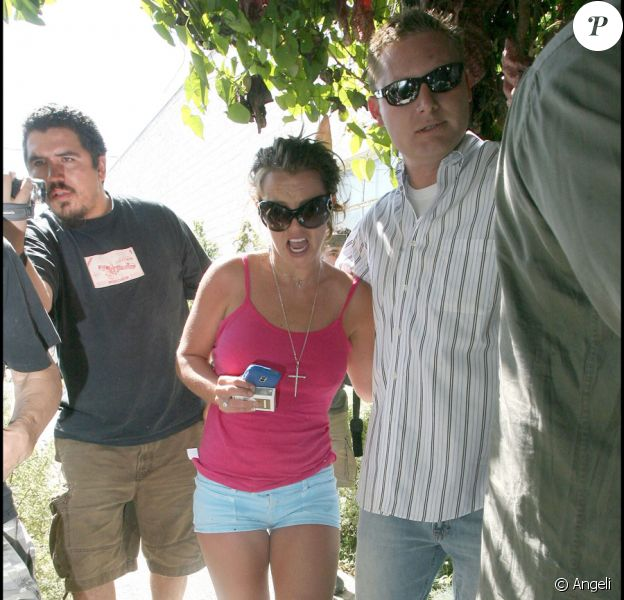 Britney Spears en brune à Beverly Hills le 2 août 2009