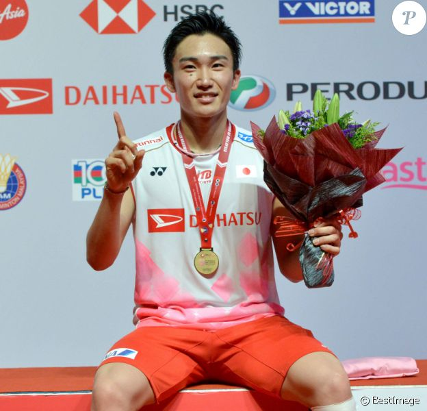 Momota Kento lors des masters 2020 de badminton à Kuala Lumpur le 12 janvier 2020. (info © Chong Voon Chung / Panoramic / Bestimage