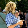 """Alice Taglioni (enceinte) pour le film """"Je voudrais que quelqu'un m'attende quelque part"""" lors de la 12ème édition du festival du Film Francophone d'Angoulême, France, le 24 août 2019. © Coadic Guirec/Bestimage"""