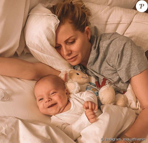 Jessica Thivenin avec son fils Maylone, le 6 janvier 2020