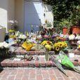 Hommages rendus à Mac Miller devant son domicile à Los Angeles, le 10 septembre 2018