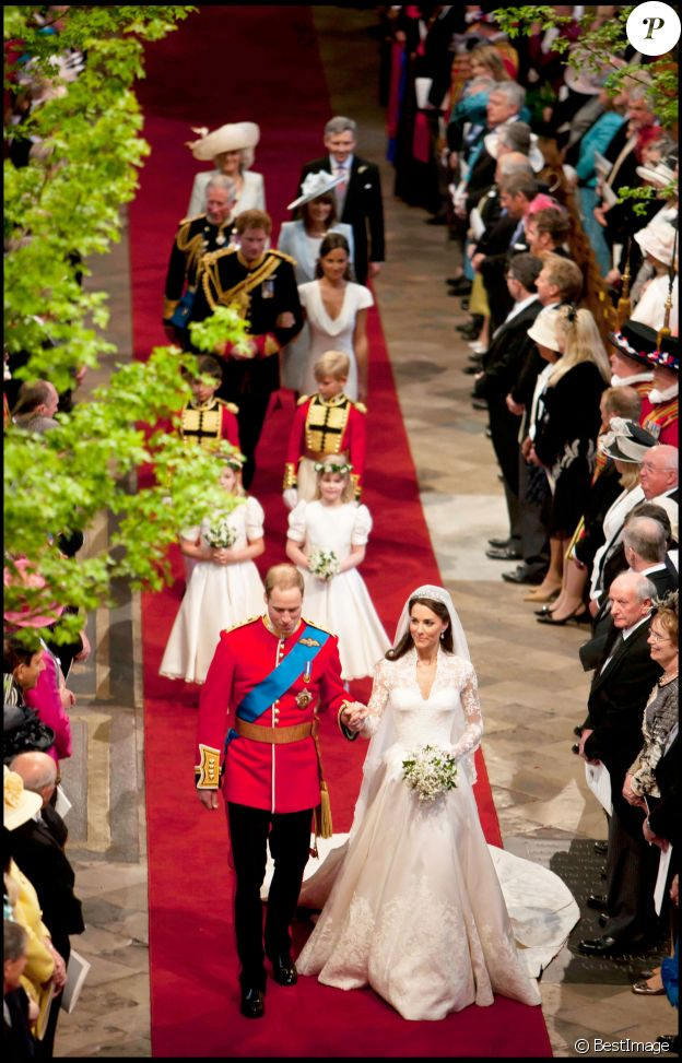 Mariage de Kate Middleton et du prince William à l'Abbaye de Westminster, le 29 avril 2011.