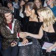 Juliette Binoche, Roberta Armani et Reese Witherspoon assistent au défilé de mode Haute-Couture printemps-été 2020 Armani Privé à Paris le 21 janvier 2020. © Olivier Borde / Bestimage