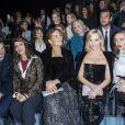 Guillaume Canet, Juliette Binoche, Roberta Armani, Reese Witherspoon et Bel Powley assistent au défilé de mode Haute-Couture printemps-été 2020 Armani Privé à Paris le 21 janvier 2020. © Olivier Borde / Bestimage