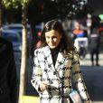 La reine Letizia d'Espagne le 9 janvier 2020 de sortie pour une réunion de travail de la Fédération espagnole des maladies rares