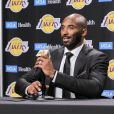 Kobe Bryant donne une conférence de presse à l'issue de son match de départ à la retraite au Staples Center à Los Angeles, le 18 décembre 2017. © CPA / Bestimage