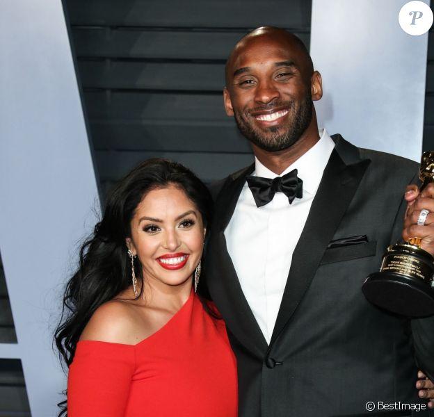 Vanessa Laine Bryant et son mari Kobe Bryant à la soirée Vanity Fair Oscar au Wallis Annenberg Center à Beverly Hills, le 4 mars 2018