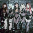 Jessica Sutta, Kimberly Wyatt, Nicole Scherzinger, Ashley Roberts et Carmit Bachar forment les Pussycat Dolls. Décembre 2019.